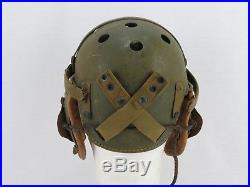 Casque tankiste américain RAWLING avec écouteurs militaria original US WWII