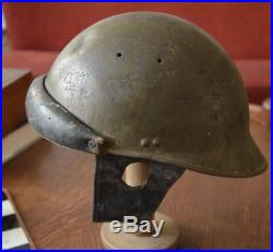 Casque troupes motorisées modèle 1935 coiffe datée 1939 campagne France 1940