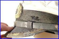 Casquette KRIEGSMARINE U BOOT officier WWII Blanc Inédit Rare