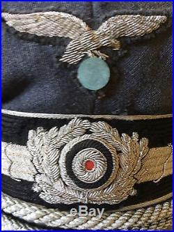 Casquette Officier Lufwaffe Seconde Guerre Mondiale