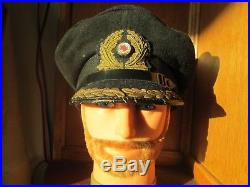 Casquette capitan kriegsmarine schirmmütze pas casque u-boot ww2 kaleu cap