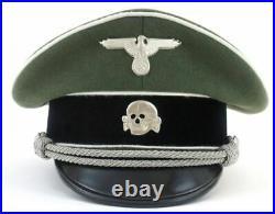 Casquette d'officier d'Infanterie Waffen-SS WW2 Réplique Seconde Guerre Mondiale