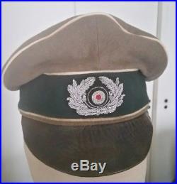 Casquette d'officier infanterie Heer Alter Art avec marquage datée 1939 WW2