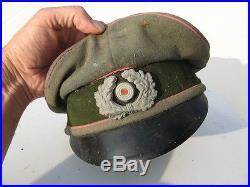 Casquette officier Panzer WW2