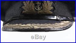Casquette officier Royal Navy WW2 (matériel original)
