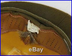 Casquette officier US WW2 (matériel original) (Taille FR 55)