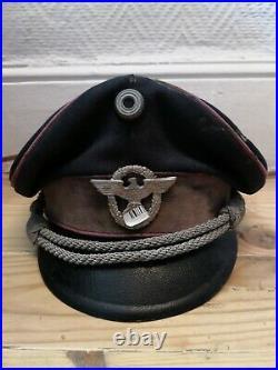 Casquette officier allemand ww2 Authentique bon état, pièce de terrain