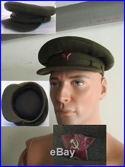 Casquette officier soviétique armée rouge WW2