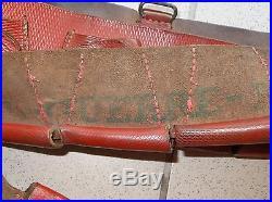 Ceinturon cartouchières cuir rouge méhariste saharien ww2