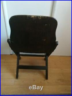 Chaise bois pliante US ARMY, WW2, 2nd guerre mondiale, Débarquement, Normandie