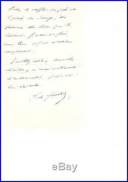 Charles De Gaulle / Lettre Autographe Signée (1961) / A Paul Vialar
