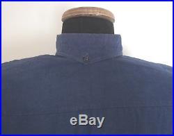 Chemise troupe modèle 1935 en coton bleu foncé pour Chasseurs à pieds ou Alpins