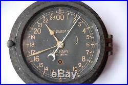 Chronomètre Marine guerre américaine 39-45 CHELSEA U. S. NAVY SHIPS CLOCK 24h WW2