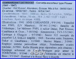 Commandant Detroyat Corvette F. N. F. L. H. M. S. Coriander Cloche