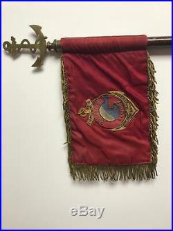 Commando GUILLAUME FANION DE COMMANDEMENT CANETILLE HAUTEUR 14 CM LARGEUR 22 CM