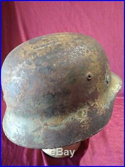 Coque casque allemand camo WWII / German helmet shell camo