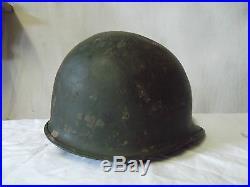 Coque de casque US M1 américain utilisée par la France en indochine