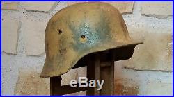 Coque de casque allemand camouflé WW2 Normandie