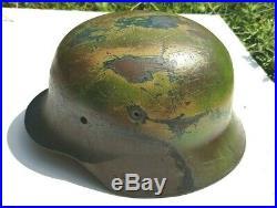 Coque stalhelm modèle 1940 camouflé soldat allemand / 1944 / Herr/ Wehrmacht/WW2