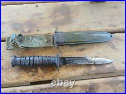 Couteau USM3 fourreau USM8 d'origine WW2