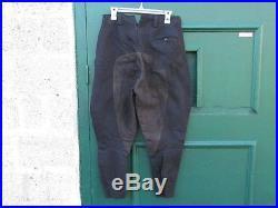 Culotte Allemande Noire A Basane / Pantalon Noir Allemand Wwii