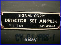 DETECTEUR DE MINES SIGNAL CORPS US ARMY AN/PRS 1 WW2