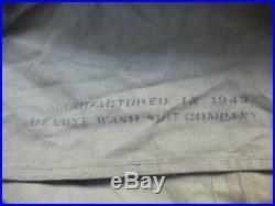 Demi toile de tente réglementaire US datée 1943 teinte OD3 Gi's Normandie 1944