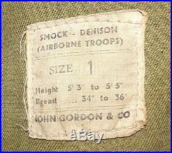 Denison Smock 2ème modèle datée 1945 parachutiste Airborne GB WW2 anglais para