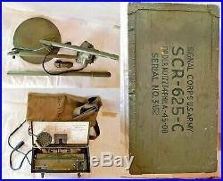 Détecteur De Mines Ww2 Scr 625 C Us Army Mine Detector Militaria