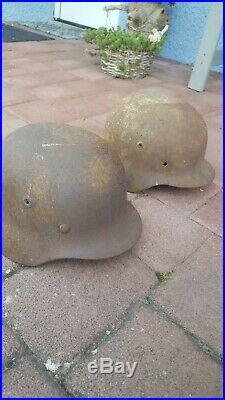 Deux casques allemands WW2 M40
