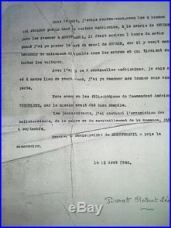 Document Et Carte De Ffi Liberation De Paris Ww2 Montfermeil Chef Resistant