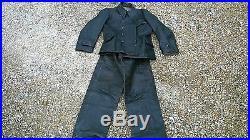 Ensemble veste + pantalon cuir KM / Panzer / Waffen WW2 casque