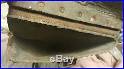 Etui cuir de l outils soldat allemand de 1940 en cuir