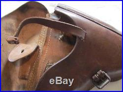 Etui/holster Allemand De Pistolet P08 Luger Cuir Fauve Luftwaffe 1941 Wwii
