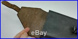 Etui réglementaire en cuir pour pinces courtes / TBE / allemand ww2