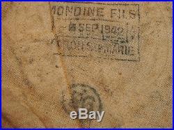 Exceptionnel et rare béret de Tankiste français daté 1942 OLORON original WWII
