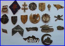 Exceptionnel lot d'insignes d'un ancien de la 1ére DFL