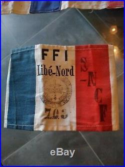 FFI Maquis Résistance SNCF brassard résistance fer
