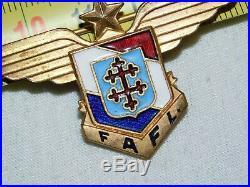 FORCES AERIENNES FRANCAISES LIBRES FAFL INSIGNE numéroté #. 7089