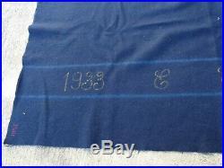 FRANCE 1940 Couverture Bleue de Selle de Cavalerie Guerre 1933