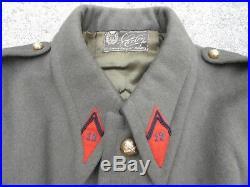 FRANCE 1940 Manteau Capote Officier 12 Artillerie drap kaki Attribué Dunkerque