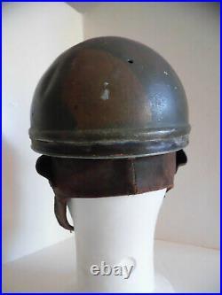 FRANCE CASQUE RARE de PARACHUTISTE ARMEE de lAIR 1937 En aluminium camouflé