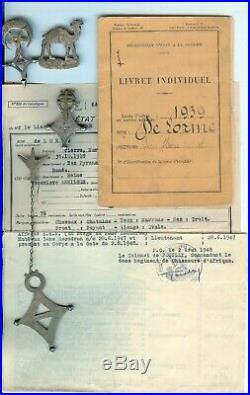 FRANCE LIBRE Free french camel corps 6 pièces de LORME Pierre EXCEPTONNEL