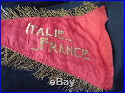 F F L Débarquement de Provence Fanion Infanterie Colo Croix de Lorraine