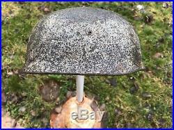 Fallschirmjäger casque allemand original ww2 100% camouflage wintertarnung