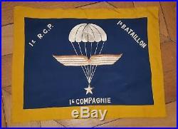 Fanion 1er RCP Libe 1944 Casque Para