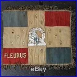 Fanion 1er RI Cambrai Poilu France 40 Maginot Rare nord Casque Lille Dunkerque