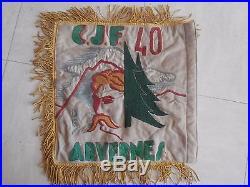 Fanion Chantiers de Jeunesse n° 40 Arvernes 1er Groupe 2ème Guerre Mondiale