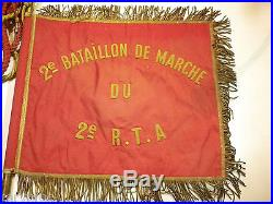 Fanion du 2è bataillon de marche du 2è RTA indochine orient libération FFL 39-45