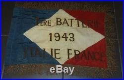 Fanion libe ffl france libre liberation rare canonniers marins Italie Gironde